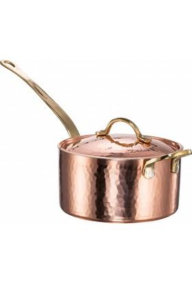Copperbull Kalın 1,2 Ml Bakır Sos - Pan Tavası Kapaklı 17 Cm 1.8 Lt Kapasite