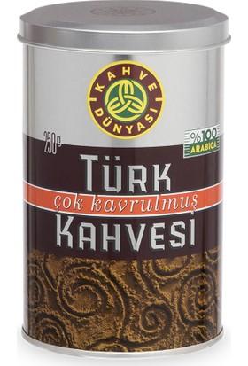 Kahve Dünyası Çok Kavrulmuş Türk Kahvesi 250 gr 12'li Ekonomik Paket