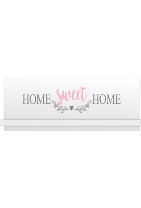 Evmanya Haus Home Sweet Home Duvar Rafı