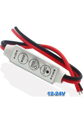 Robotekno Şerit Led Dimmer Kontrol Led Kontrol Devresi 12/24V