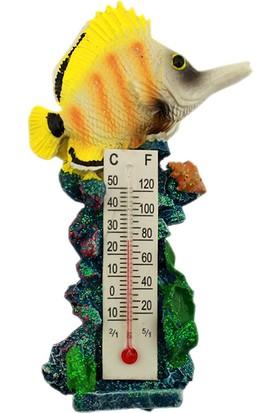 Hunga Termometreli Balık Magnet - Buzdolabı Süsü