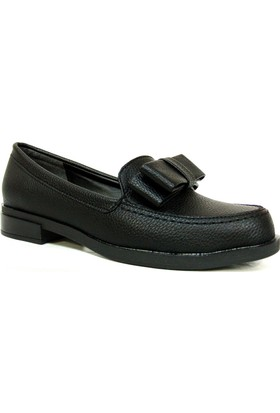 Punto 642429 Siyah Deri Casual Kadın Ayakkabı