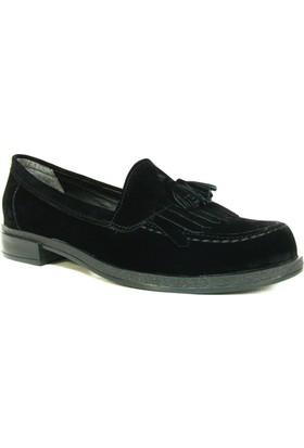 Punto 642434 Siyah Nubuk Süet Casual Kadın Ayakkabı