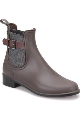 Igor W10158 -N34 Kahverengi Kadın Yağmur Çizmesi
