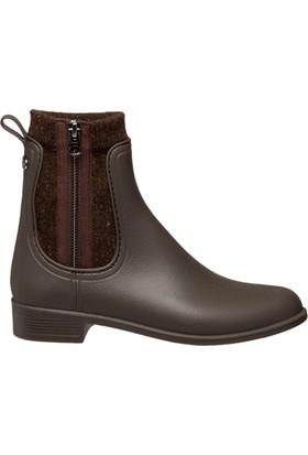Igor W10171-122 Kahverengi Kadın Yağmur Çizmesi