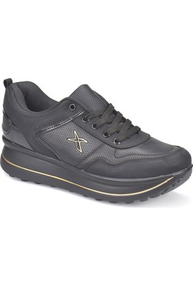 Kinetix Gaby Siyah Altın Kadın Sneaker