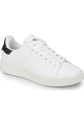 Lumberjack Kiko Beyaz Siyah Kadın Sneaker