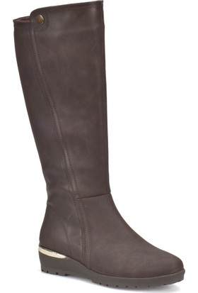 Miss F Dw17045 Kahverengi Kadın Dolgu Topuk