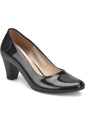 Miss F N16036R-18S Siyah Kadın Gova Ayakkabı
