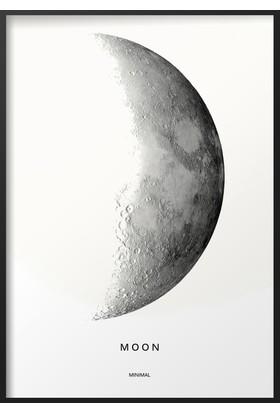 Dizayn House Moon Özel Tasarım Çerçeveli Tablo
