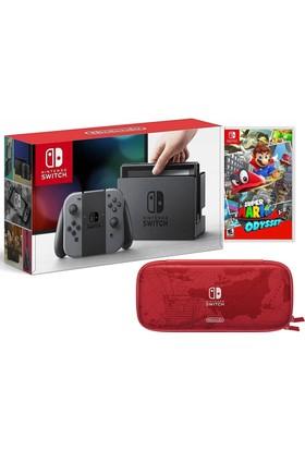 Nintendo Switch Oyun Konsol + Super Mario Odyssey + Odyssey Çanta