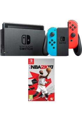 Nintendo Switch Renkli + NBA 2K18 Switch Oyun