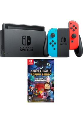 Nintendo Switch Renkli + Minecraft Switch Oyun
