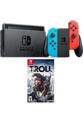 Nintendo Switch Renkli + Troll Switch Oyun