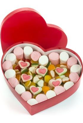 Şeker Şef Sevgiliye Özel Şeker Aşk Kalp Kutusu