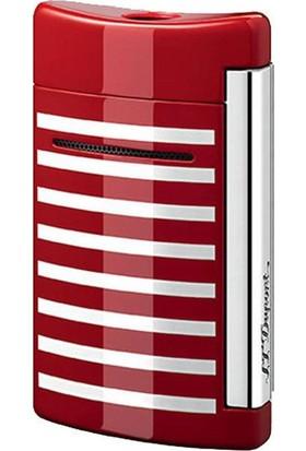 S.T. Dupont Puro Çakmak Xtend Minijet Kırmızıi/Beyaz Çizgili