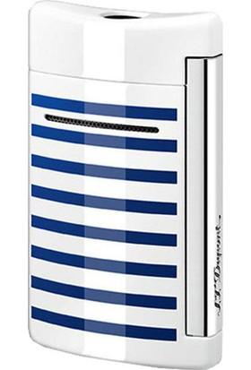 S.T. Dupont Puro Çakmak Xtend Minijet Beyaz/Mavi Çizgili