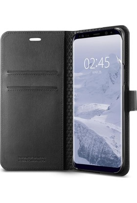 Spigen Samsung Galaxy S9 Kılıf Wallet S Cüzdan Black - 592CS22870