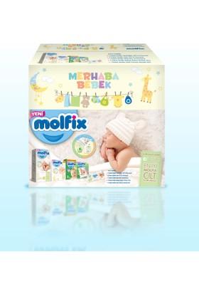 Molfix Bebek Bezi Doğuma Hazırlık Paketi (1 Beden Yenidoğan Paket 40 adet + 2 Beden Mini Paket 24 adet + 3 Beden Mini Paket 10 adet + Islak Pamuklu Mendil 50 yaprak + Bebek Bakım Örtüsü 10 adet)