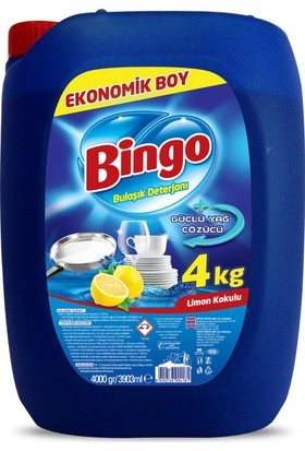 Bingo Bulaşık Sıvısı 4L