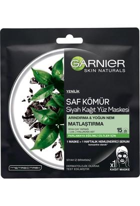 Garnier Saf Kömür Siyah Çay Kağıt Matlaştırma Yüz Maskesi