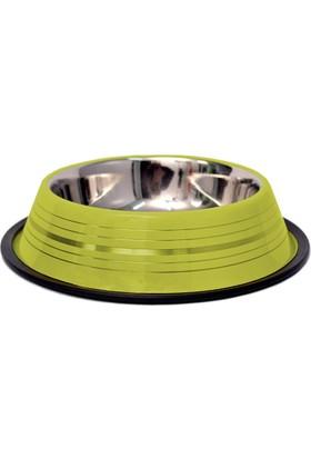 Gardenmix Desenli Yeşil Çelik Köpek Mama Su Kabı 2.8 Lt