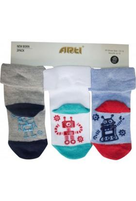 Artı 400278 Dalek 3'lü Abs'li Bebek Çorabı