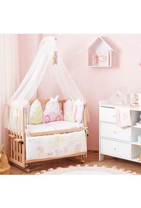 Aybi Baby Trendy Pink Anne Yanı Beşik Seti