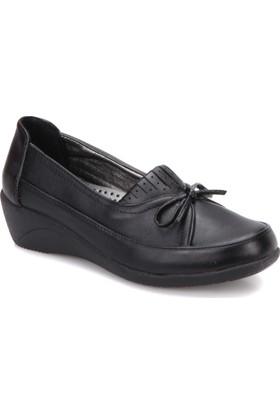 Polaris 61.156559FZ Siyah Kadın Deri Ayakkabı