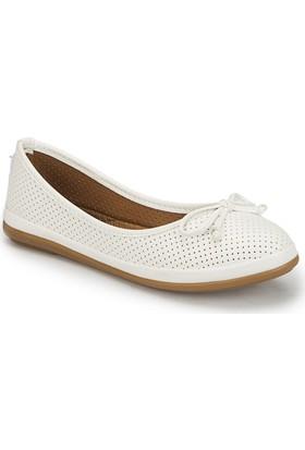 Polaris 81.155537.Z Beyaz Kadın Ayakkabı