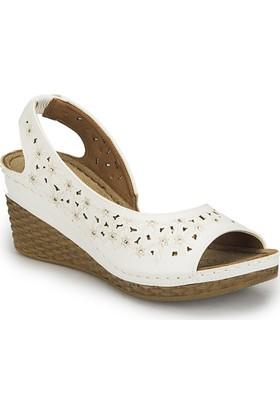 Polaris 81.157342.Z Beyaz Kadın Ayakkabı