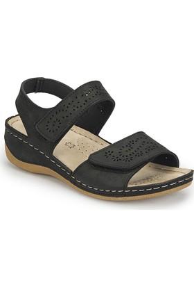Polaris 81.157359.Z Siyah Kadın Sandalet