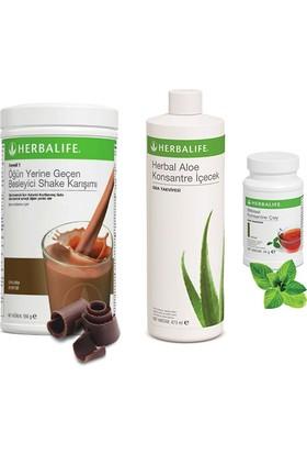 Herbalife Çikolata Shake - Klasik Çay 50 gr - Aloe Vera