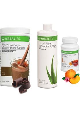 Herbalife Çikolata Shake - Şeftali Çay 50 gr - Aloe Vera