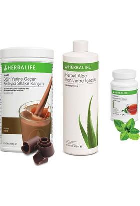 Herbalife Çikolata Shake - Klasik Çay 100 gr - Aloe Vera