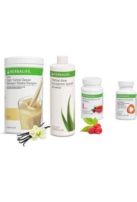 Herbalife Vanilya Shake -Ahududu Çay 50 gr - Aloe Vera - Thermo Tablet