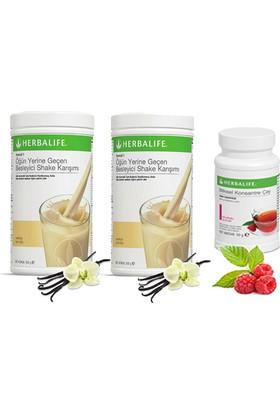 Herbalife 2 Vanilya Shake -Ahududu Çay 50 gr
