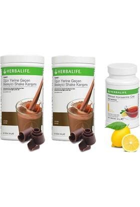 Herbalife 2 Çikolata Shake - Limon Çay 50 gr