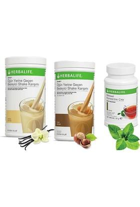 Herbalife Shake Karışımı - 1 Vanilya - 1 Fındık - 1 Klasik Çay
