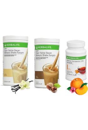 Herbalife Shake Karışımı - 1 Vanilya - 1 Fındık - 1 Şeftali Çay