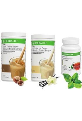 Herbalife Shake Karışımı - 1 Vanilya - 1 Fındık - 1 Klasik Çay 100 gr