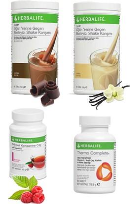 Herbalife Shake Karışımı - 1 Vanilya - 1 Çikolata - 1 Ahududu Çay - 1 Thermo