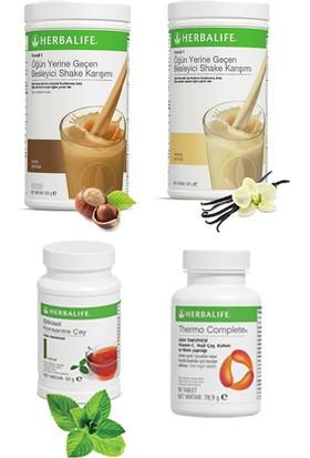 Herbalife Shake Karışımı - 1 Vanilya - 1 Fındık - 1 Klasik Çay 100 gr - 1 Thermo