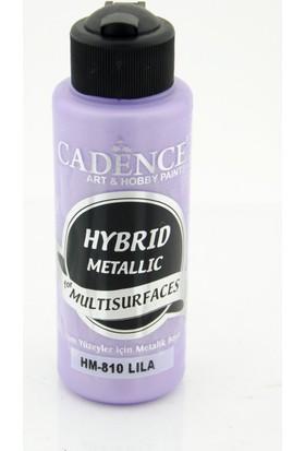 Cadence Multi Surface Hibrit Metalik Boya H810 Lila 120 ml