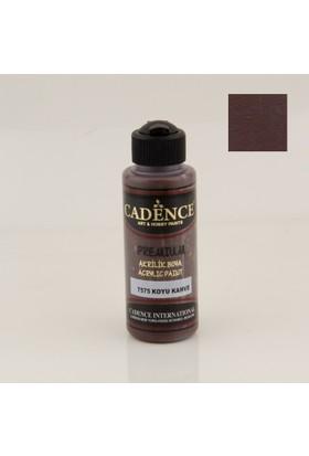 Cadence Premium Akrilik Boya 7575 - Koyu Kahve 120 ml