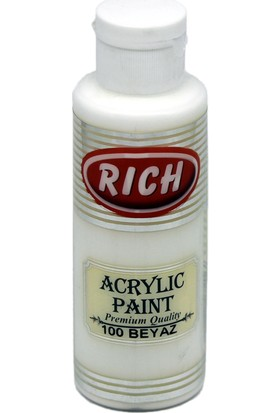 Rich Akrilik Boya 100 - Beyaz 130 cc