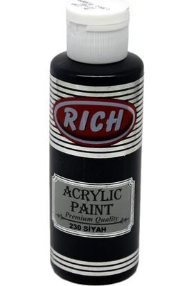 Rich Akrilik Boya 230 - Siyah 130 cc