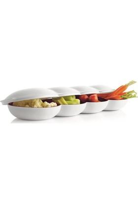 Tupperware Berrak Çerezlik Set Kırmızı - Beyaz