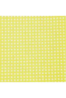 Sarı Kare Desenli Sentetik Keçe Kumaş 50cm x 50cm
