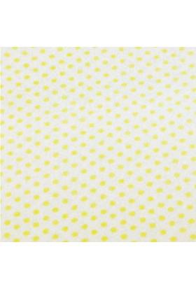 Sarı Puantiye Desenli Sentetik Keçe Kumaş 50cm x 50cm